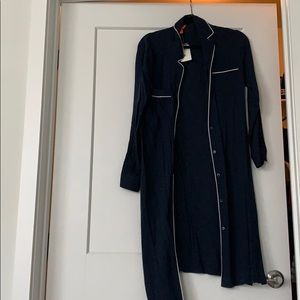 Joe Fresh Navy Blue long sleeve dress